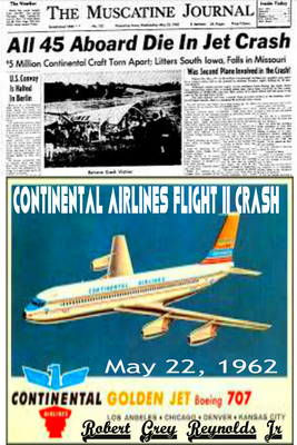 Continental Airlines Flight 11 Crash, May 22, 1962